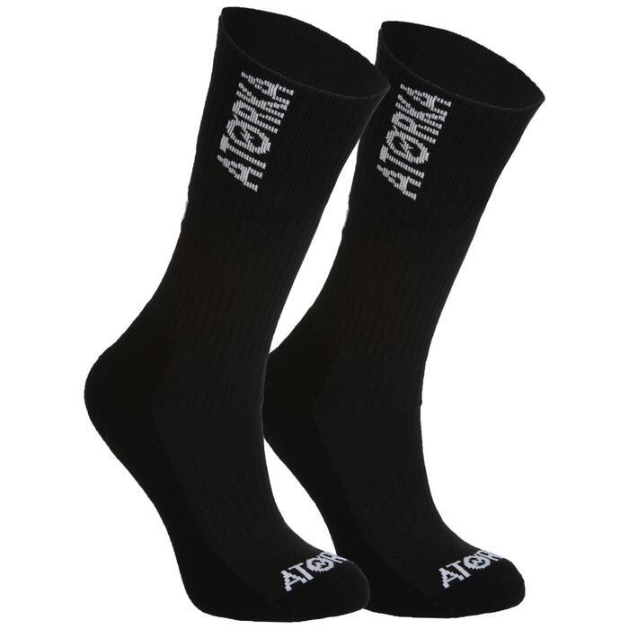 Chaussettes de handball adulte H500 noir / blanc