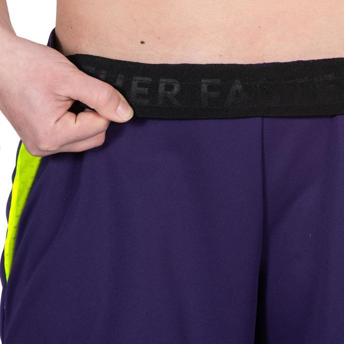 Handbalshort voor dames H500 paars / geel