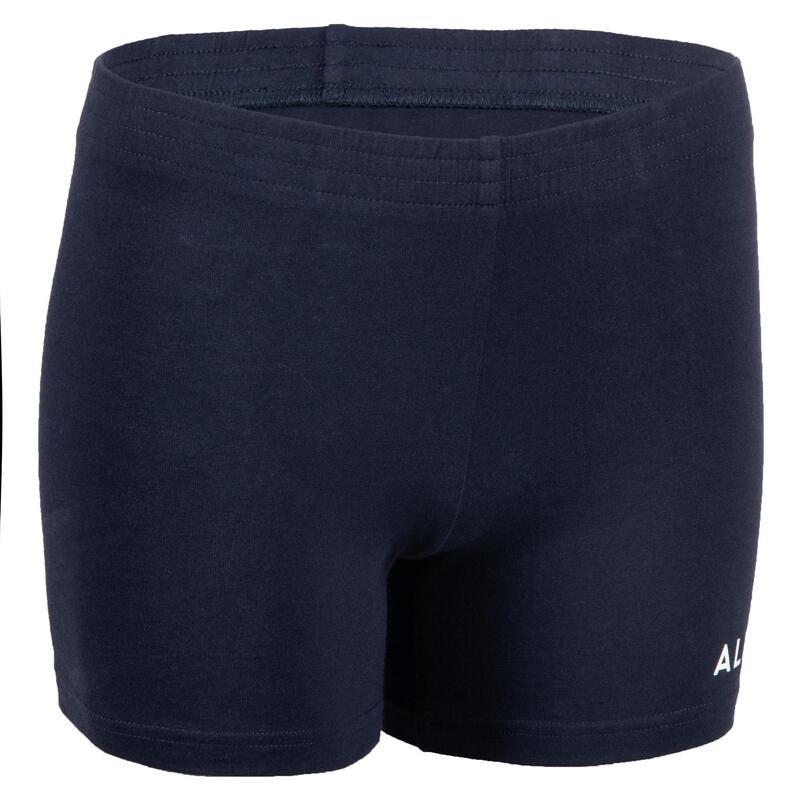Volleybalshort voor meisjes V100 marineblauw