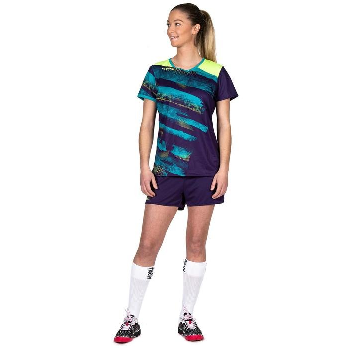 Maillot de handball H500 violet / jaune