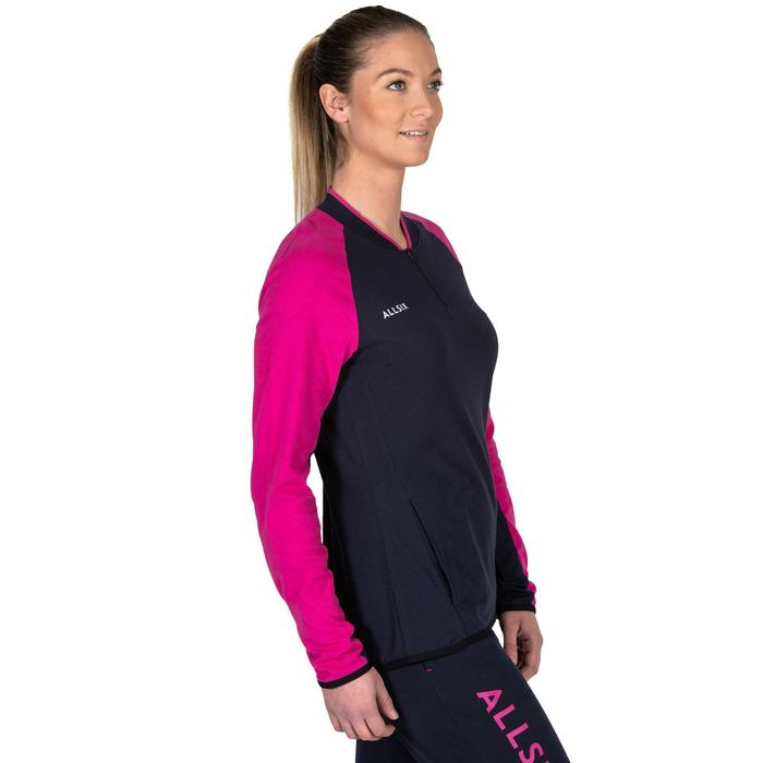 Volleybalvest dames VJA100 marineblauw roze
