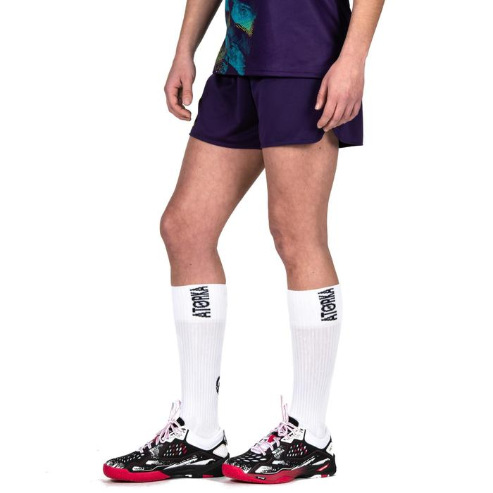 Handballshorts H500 Damen violett/gelb