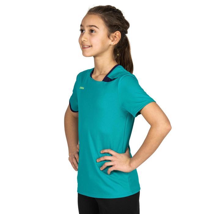 Maillot de handball enfant H100 bleu turquoise / violet