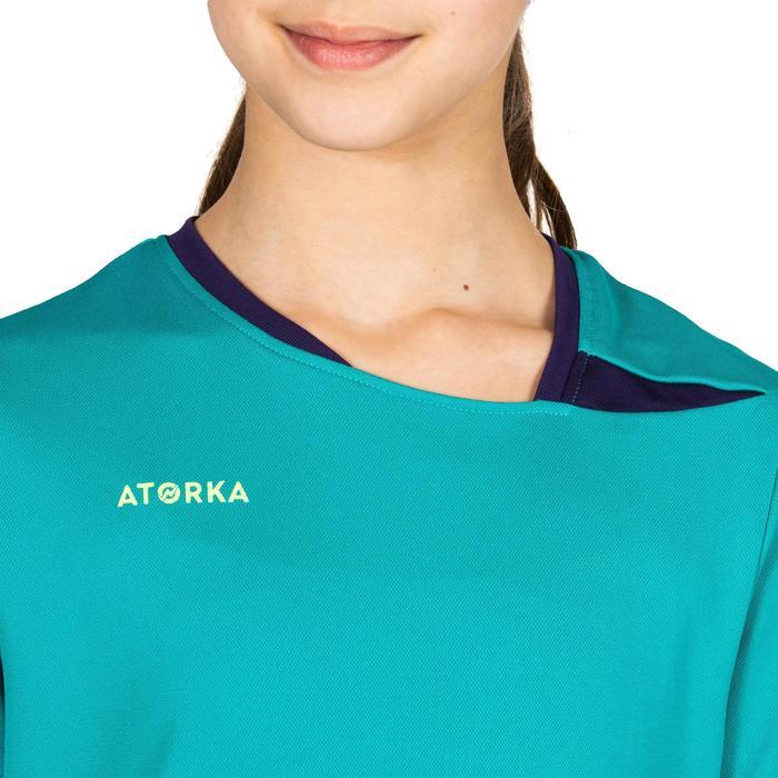 Handbalshirt kind H100 turquoise / paars