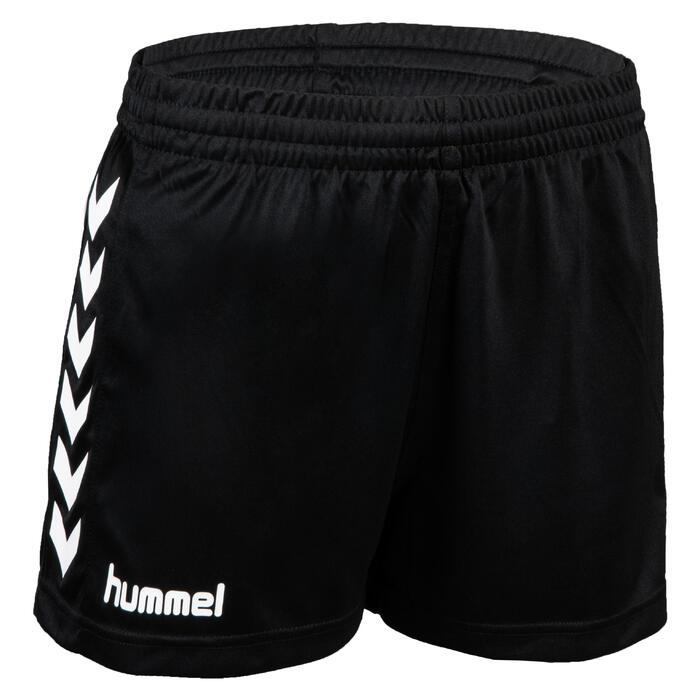 Short de handball core femme noir blanc