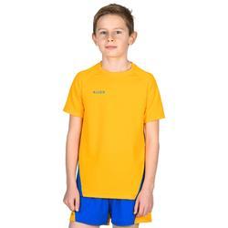 Camiseta de Voleibol Allsix V100 niños amarillo y azul