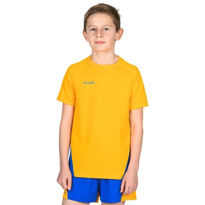 Maillot de volley-ball garçon V100 jaune et bleu
