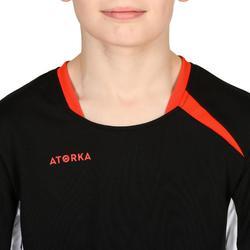 Camiseta de Balonmano Atorka H100 Niños Negro Blanco Rojo