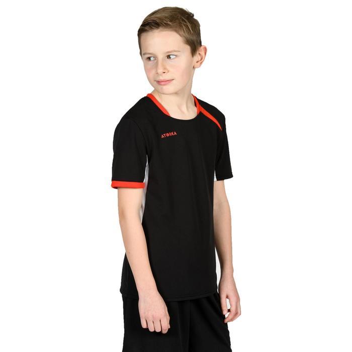 Handballtrikot H100 Kinder schwarz/rot