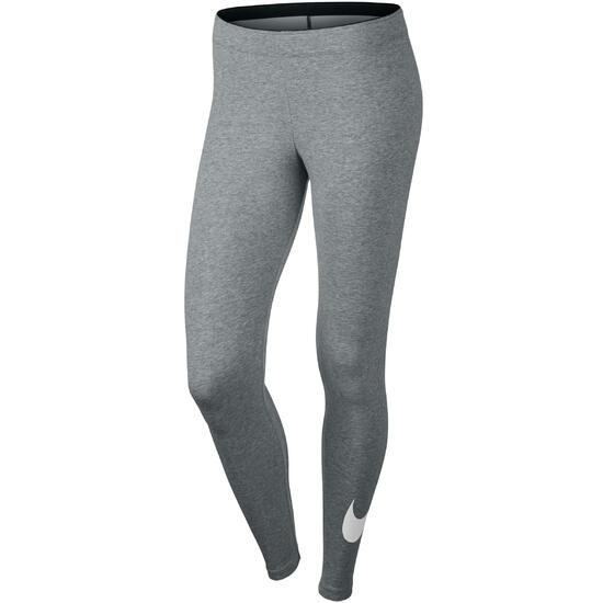 Fitnesslegging Swoosh voor dames grijs - 163645