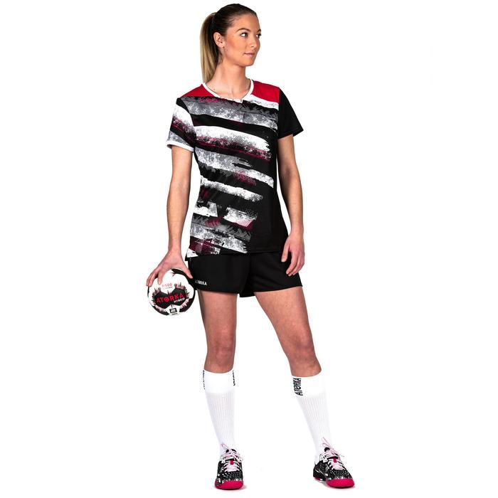 Ballon de handball H500 T2 noir/blanc