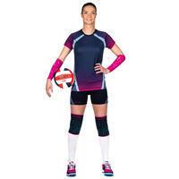 Maillot de volleyball femme V500 bleu