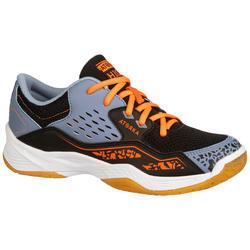 Zapatillas de balonmano júnior H100 con cordones naranja / gris