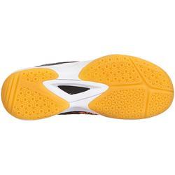 Handballschuhe H100 mit Klettverschluss Kinder orange/grau