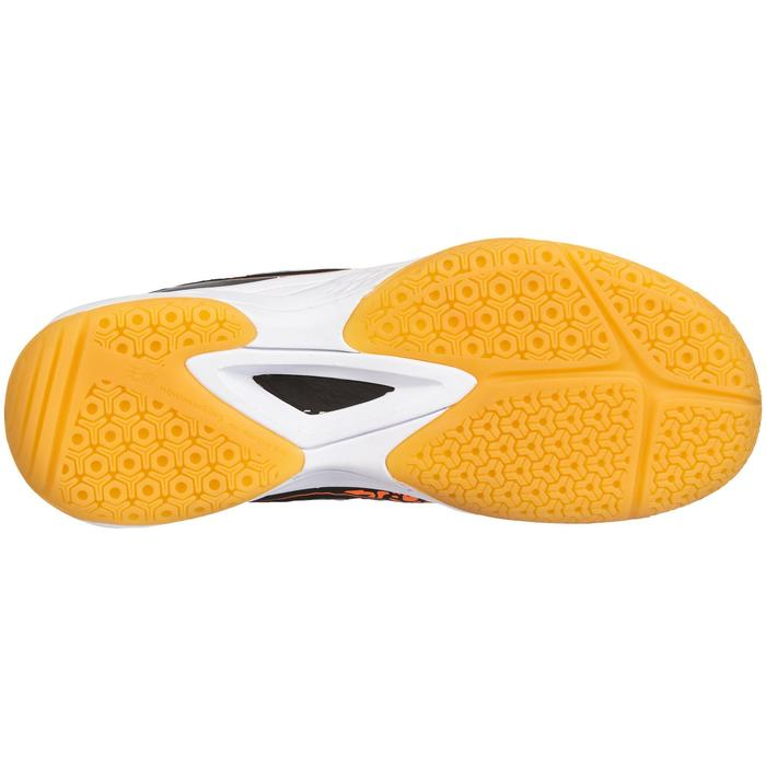 Handbalschoenen kind H100 met klittenband oranje/grijs