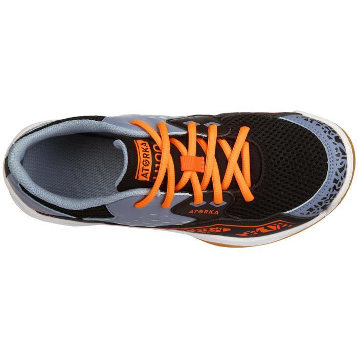Handballschuhe H100 mit Schnürsenkeln Kinder orange/grau
