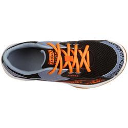 Handbalschoenen voor kinderen H100 met veters oranje/grijs