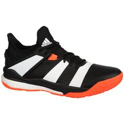 Zapatillas de balonmano adulto StabilX negro / naranja