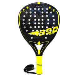 Padelracket volwassenen PR 990 Power Soft zwart/geel
