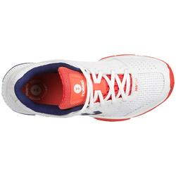 Chaussures handball femme aerocharge HB180 rely 3.0 blanc/bleu/corail