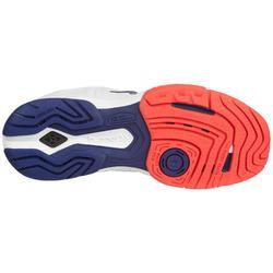 Handbalschoenen voor dames aerocharge HB180 rely 3.0 wit/blauw/koraalrood