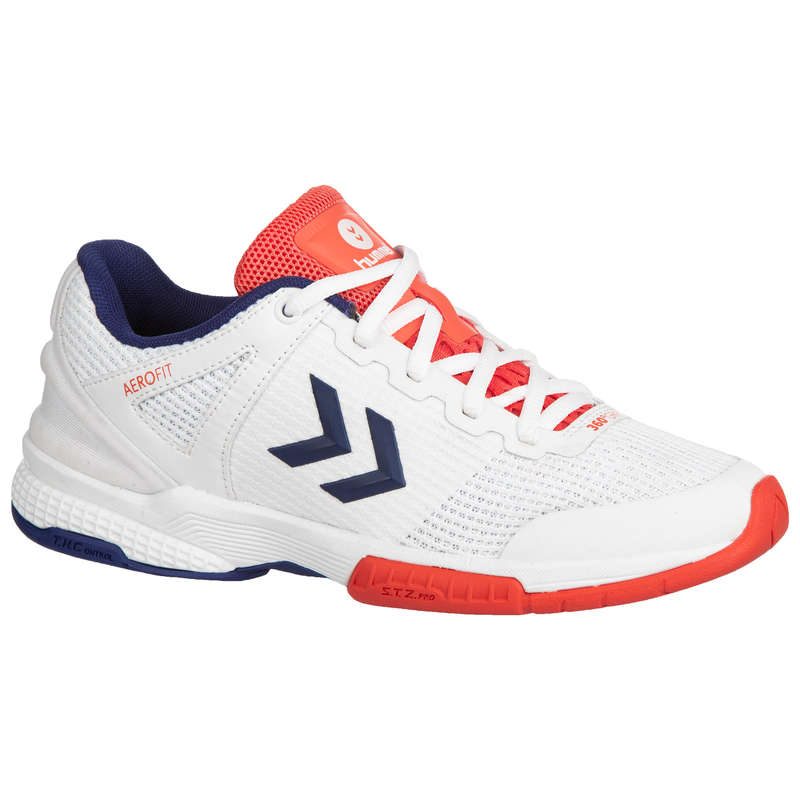 APPAREL SHOES WOMEN HANDBALL Handball - HB180 Women's - White/Blue HUMMEL - Handball