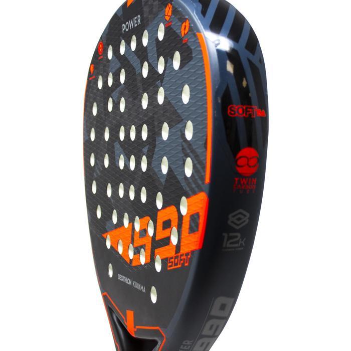 Padelracket PR 990 Power Soft zwart/oranje