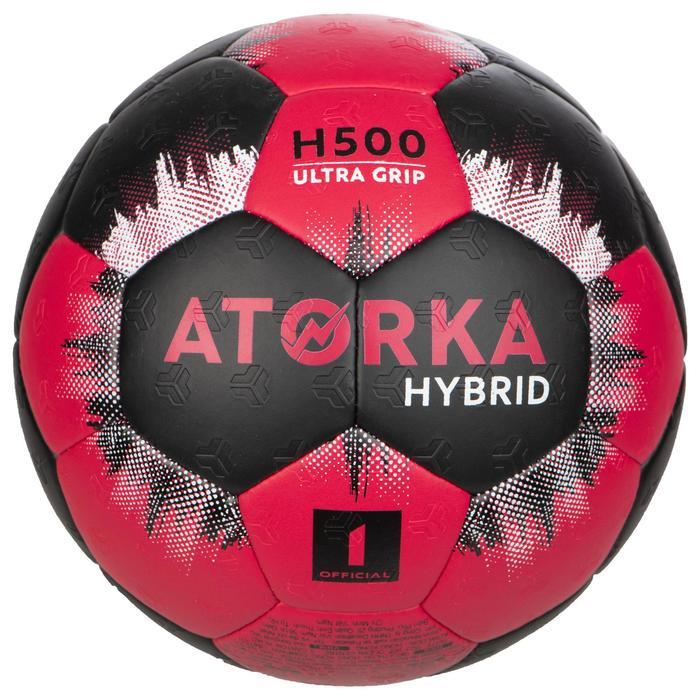 Handbal voor kinderen hybride maat 1 roze en zwart