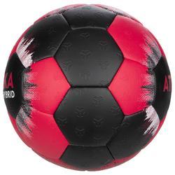 Ballon de handball enfant hybride Taille 1 rose et noir