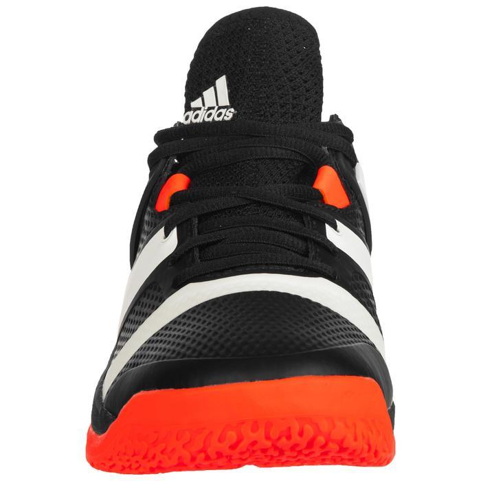 Chaussures de handball adulte StabilX noir orange