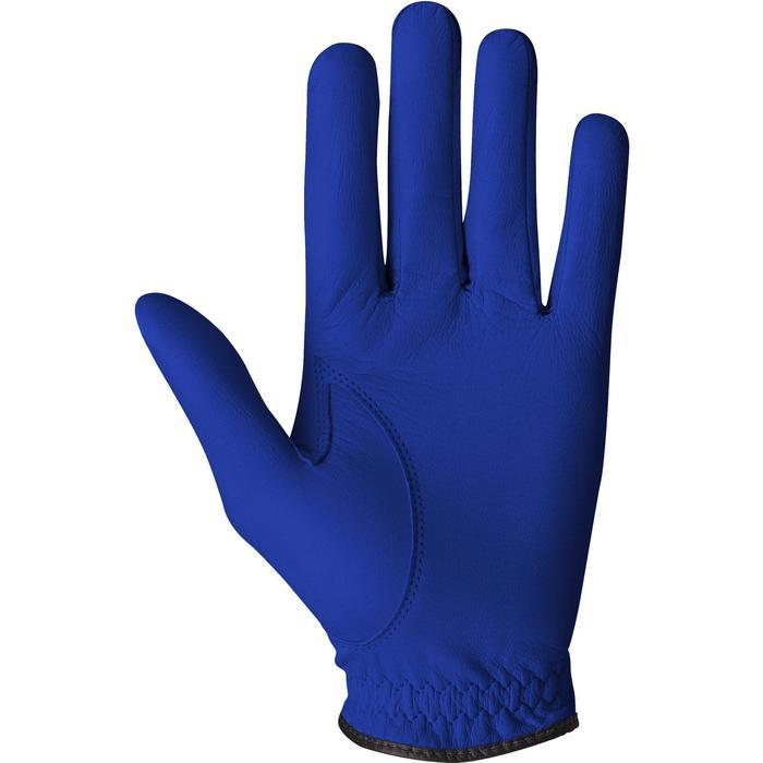 Guante de golf hombre 500 perfeccionamiento y experto diestro azul eléctrico