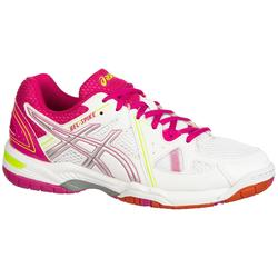 Chaussures de volley-ball femme Gel Spike blanches et roses Asics
