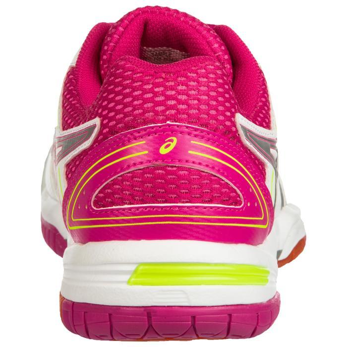 Chaussures de volley-ball femme Gel Spike blanches et roses Asics