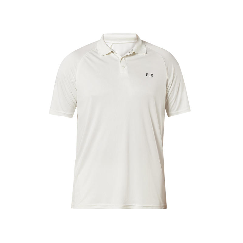 Juniors Polo, Off-White T-shirt, For Cricket Training, Ivory
