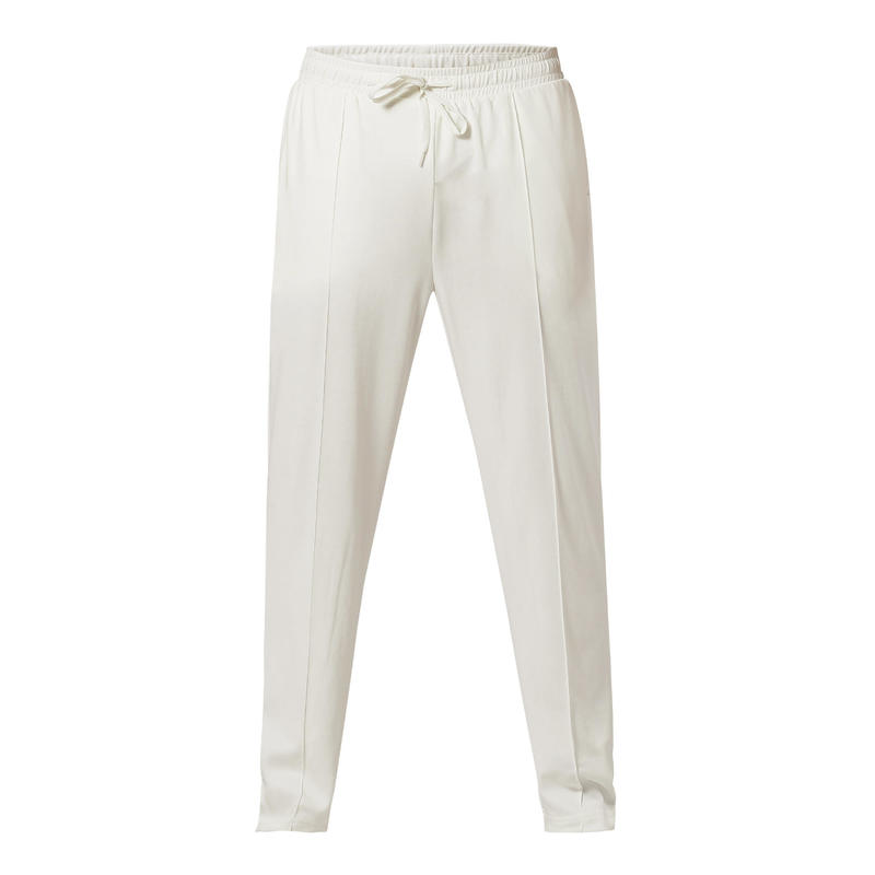 Juniors Cricket Trackpants, Youth/Adults, Off-White, For Training, Ivory 100