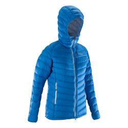 女款輕量高難度登山羽絨外套-藍色
