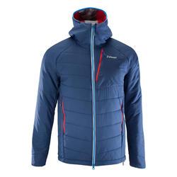 Gewatteerde jas voor bergbeklimmen heren Alpinism grijsblauw
