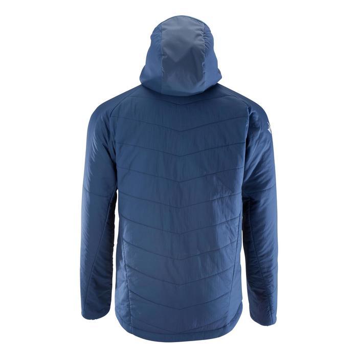Wattierte Bergsteigerjacke Kunstfaser Alpinism Herren blau/grau
