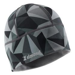 Mütze Bergsteigen grau mit Motiv