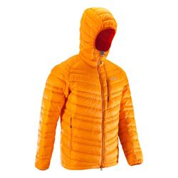 Doudoune en duvet d'alpinisme homme - ALPINISM LIGHT Orange