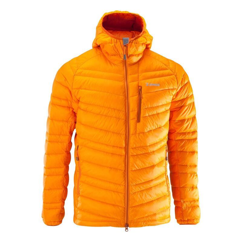 Doudoune en duvet d'alpinisme homme - ALPINISM LIGHT Orange