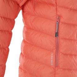 Bergsteiger-Jacke Alpinism Light Daune Damen koralle