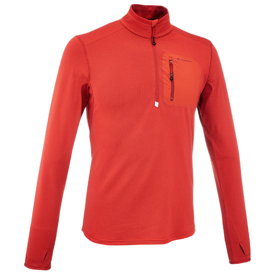 Heren T-shirt met lange mouwen voor trekking Forclaz 500 - 163710
