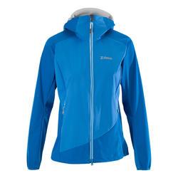 女款輕量軟殼高難度登山外套-藍色