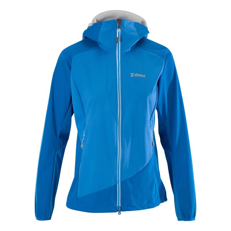 Women's Mountaineering Softshell Jacket - Alpinism Light Blue