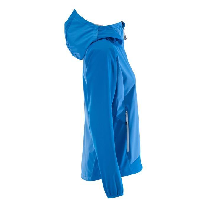 女款登山運動軟殼外套Alpinism-淺藍色