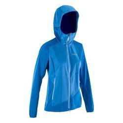 Softshell damesjas Light voor alpinisme blauw