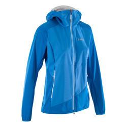 VESTE SOFTSHELL d'alpinisme FEMME - ALPINISM Light Bleu