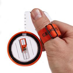 RACER 500 RIGHT-THUMB COMPASS FOR ORIENTEERING - ORANGE
