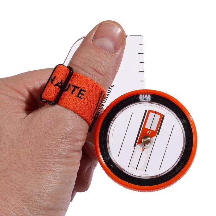 Duimkompas links voor oriëntatielopen Racer 500 oranje